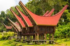 Tradycyjna wioska, Taniec Toraja Obrazy Royalty Free