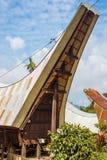 Tradycyjna wioska w Taniec Toraja, Południowy Sulawesi, Indonezja Zdjęcia Stock