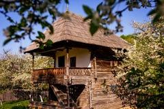 Tradycyjna wioski architektura wiejski Rumunia Zdjęcie Royalty Free