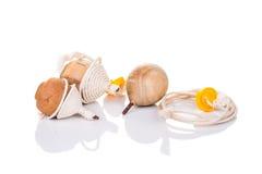Tradycyjna wiru wierzchołka zabawka odizolowywająca w białym tle Obraz Stock