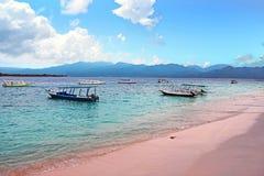 Tradycyjne łodzie na Gil Meno w Indonezja zdjęcia royalty free