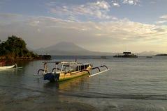 Tradycyjne balijczyk odsadni łodzie rybackie Obraz Stock