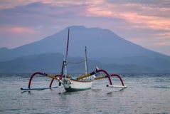 Tradycyjne balijczyk odsadni łodzie rybackie Fotografia Royalty Free