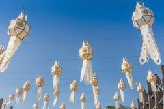 Tradycyjne flaga w niebieskie niebo dniu, Tajlandia Zdjęcia Stock