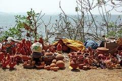 Tradycyjne Gliniane Ceramiczne sprzedaże Obraz Royalty Free