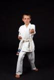 tradycyjne karate chłopca Obraz Royalty Free