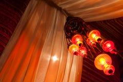 Tradycyjne lampy w Arabskim namiocie Zdjęcia Stock