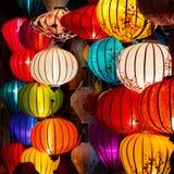 Tradycyjne lampy w Hoi, Wietnam Fotografia Royalty Free