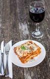 tradycyjne lasagne Fotografia Royalty Free