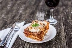 tradycyjne lasagne Obrazy Stock