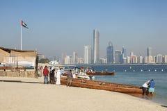 Tradycyjne łodzie w Abu Dhabi, UAE Zdjęcia Royalty Free