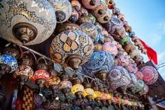 Tradycyjne orientalne tureckie lampy robić koloru szkło Obraz Royalty Free