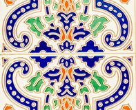 Tradycyjne ornamentacyjne Hiszpańskie dekoracyjne płytki, oryginalny cera obrazy stock