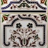 Tradycyjne ornamentacyjne Hiszpańskie dekoracyjne płytki, oryginalny cera zdjęcia royalty free