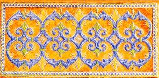 Tradycyjne ornamentacyjne Hiszpańskie dekoracyjne płytki, oryginalny cera zdjęcie royalty free