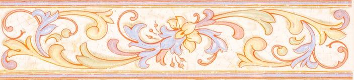 Tradycyjne ornamentacyjne Hiszpańskie dekoracyjne płytki, oryginalny cera obrazy royalty free