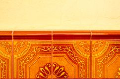 Tradycyjne ornamentacyjne Hiszpańskie dekoracyjne płytki, oryginalny cera zdjęcia stock