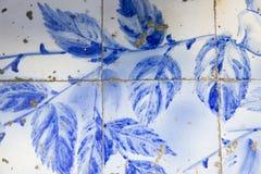 Tradycyjne ozdobne portuguese dekoracyjne płytki zdjęcia stock