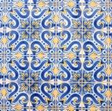 Tradycyjne płytki na domu w Porto zamykają w górę zdjęcie stock