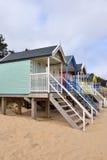 tradycyjne plażowe budy Obraz Stock