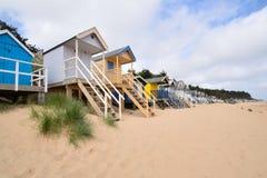 tradycyjne plażowe budy Obrazy Stock