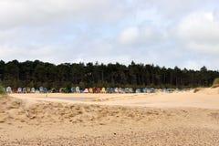 tradycyjne plażowe budy Fotografia Royalty Free