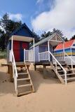 tradycyjne plażowe budy Zdjęcie Royalty Free