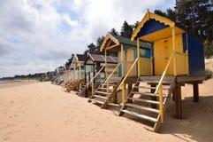 tradycyjne plażowe budy Zdjęcie Stock
