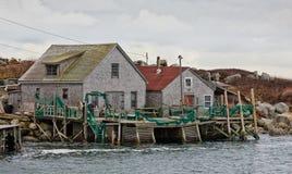 Tradycyjne połów chałupy zdjęcia royalty free
