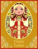 Tradycyjne Rosyjskie matryoshka lale (matrioshka) Obraz Royalty Free