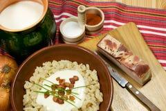 tradycyjne slovak żywności Zdjęcia Royalty Free