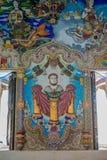 Tradycyjne Tajlandzkie styl rzeźby, obraz w kościół pod dekoracją Wata Pariwat świątynia i Obrazy Stock