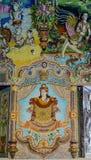 Tradycyjne Tajlandzkie styl rzeźby, obraz w kościół pod dekoracją Wata Pariwat świątynia i Fotografia Royalty Free