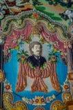 Tradycyjne Tajlandzkie styl rzeźby, obraz w kościół pod dekoracją Wata Pariwat świątynia i Zdjęcia Royalty Free