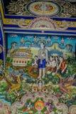 Tradycyjne Tajlandzkie styl rzeźby, obraz w kościół pod dekoracją Wata Pariwat świątynia i Zdjęcia Stock