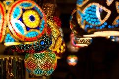 Tradycyjne Tureckie lampy, Gumusluk, Turcja Fotografia Royalty Free