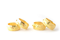 Tradycyjne złociste bransoletki Zdjęcie Royalty Free