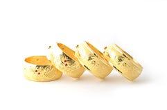 Tradycyjne złociste bransoletki Fotografia Royalty Free