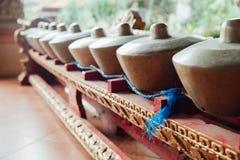 Tradycyjnego balijczyka muzyczni instrumenty, Ubud, Bali fotografia stock