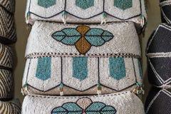 Tradycyjnego balijczyka ofiary handmade kosze keben dekorują z koralikami bali Indonesia fotografia stock