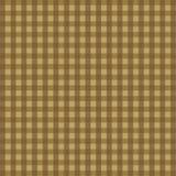 Tradycyjnego kwadratowego czeka ciągły wzór w ocher i brown Obrazy Royalty Free