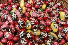 Tradycyjnego połysku Wielkanocni jajka zdjęcie stock
