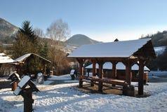 Tradycyjnego slovak drewniana budowa Zdjęcie Royalty Free