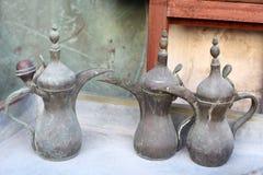 Tradycyjni Arabscy Kawowi Garnki Obrazy Stock