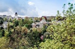 Tradycyjni architektura budynki w Luksemburg, Europa Zdjęcia Stock