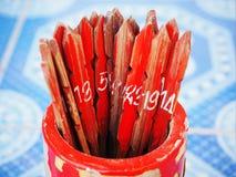 Tradycyjni bambusowi pomyślność kije Fotografia Royalty Free