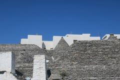 Tradycyjni biali trulli budynki obrazy royalty free