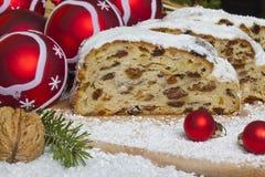 Tradycyjni Boże Narodzenia stollen   Fotografia Royalty Free