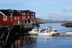 Tradycyjni budynki ja Lofoten obrazy stock