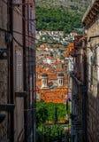 Tradycyjni budynki z pomarańczowymi dachami w Dubrovnik obrazy stock
